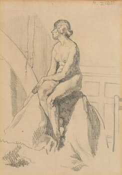 Mainie Jellett, Seated Female Nude at Morgan O'Driscoll Art Auctions