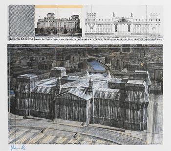 Christo, Wrapped Reichstag, Berlin (1994) at Morgan O'Driscoll Art Auctions