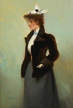 Henry Jones Thaddeus, A Lady of Fashion at Morgan O'Driscoll Art Auctions