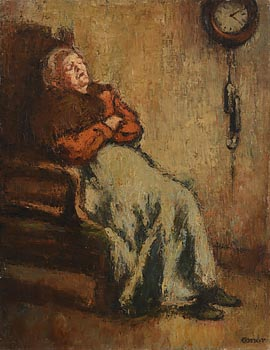 William Conor, Forty Winks at Morgan O'Driscoll Art Auctions