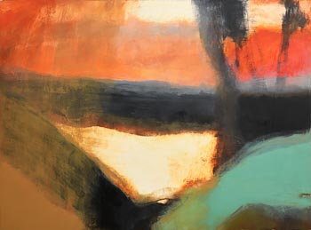 Hughie O'Donoghue, Owl Run (2013) at Morgan O'Driscoll Art Auctions