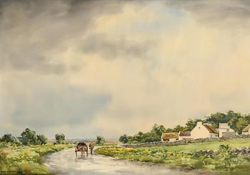 Frank J. Egginton, Bringing Home the Turf (1971) at Morgan O'Driscoll Art Auctions