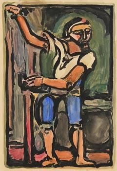 Evie Hone, Man - Homage to Roualt at Morgan O'Driscoll Art Auctions
