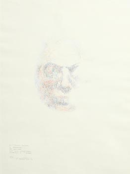 Louis Le Brocquy, Study Towards an Image of Francis Bacon (1979) (Opus: W.473) at Morgan O'Driscoll Art Auctions