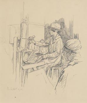 Mainie Jellet, Painting Lesson, Fitzwilliam Square Studio (1918) at Morgan O'Driscoll Art Auctions
