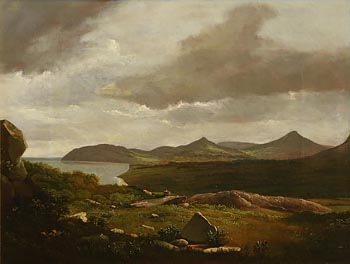 James Arthur O'Connor, View from Killiney Looking to Bray at Morgan O'Driscoll Art Auctions