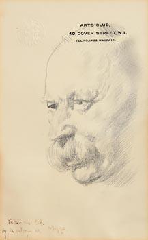 Sir William Orpen, Portrait of Sir Aston Webb PRA (1921) at Morgan O'Driscoll Art Auctions