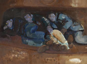 George Campbell, On the Settee, Innislacken at Morgan O'Driscoll Art Auctions