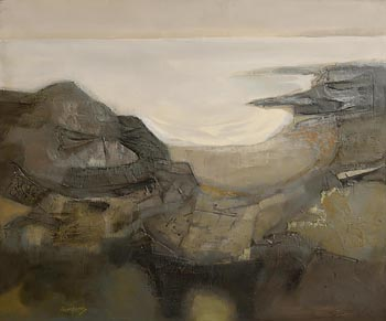 Arthur Armstrong, Grey Landscape at Morgan O'Driscoll Art Auctions