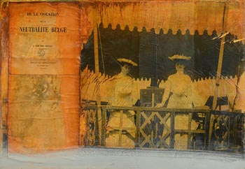 Hughie O'Donoghue, Souvenir of the Violation of the Neutrality of Belgium (2006) at Morgan O'Driscoll Art Auctions