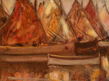 Grace Henry, Boats in Chioggia, Italy at Morgan O'Driscoll Art Auctions