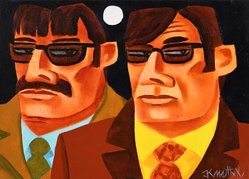 Graham Knuttel, Two Amigos at Morgan O'Driscoll Art Auctions
