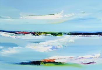 Majella O'Neill Collins, Steady Seas, Sherkin (2020) at Morgan O'Driscoll Art Auctions