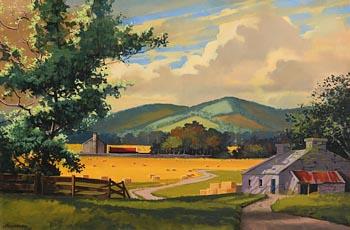 John Francis Skelton, Early Autum Stacks at Morgan O'Driscoll Art Auctions