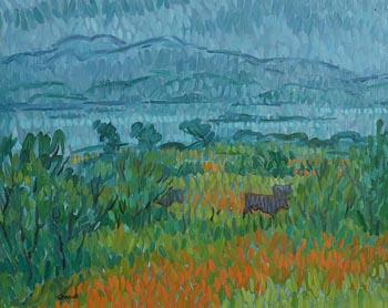 Desmond Carrick, Cattle Grazing, Co Kerry at Morgan O'Driscoll Art Auctions