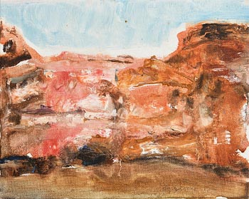 Barrie Cooke, Red Dry Cliff at Morgan O'Driscoll Art Auctions