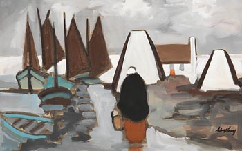 Markey Robinson, Collecting the Catch at Morgan O'Driscoll Art Auctions