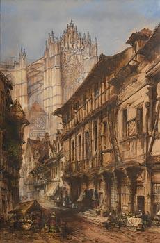Thomas Richard Colman Dibdin, Beauvais Cathedral, France (1878) at Morgan O'Driscoll Art Auctions
