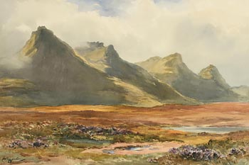 Wycliffe Egginton, The Road by Loch Tolla (1927) at Morgan O'Driscoll Art Auctions