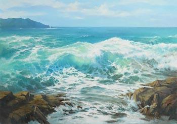 Annemarie Bourke, Emerald Shores, Wild Atlantic Way at Morgan O'Driscoll Art Auctions