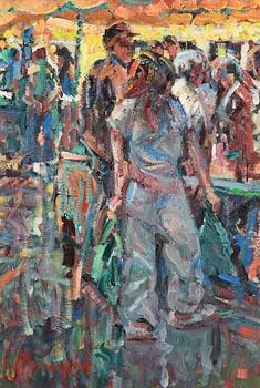 Arthur K. Maderson, Gange Market, France at Morgan O'Driscoll Art Auctions