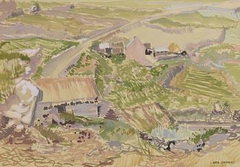 Bea Orpen, Farmhouses, Connemara at Morgan O'Driscoll Art Auctions