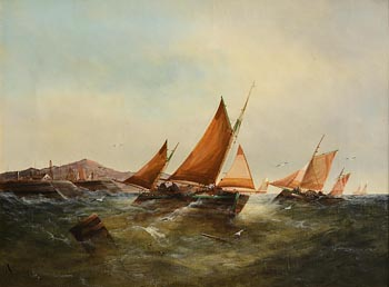 John William Buxton Knight, The Fleet Returning at Morgan O'Driscoll Art Auctions