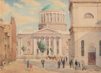 Eve Lyn Hope, The Four Courts, Dublin at Morgan O'Driscoll Art Auctions