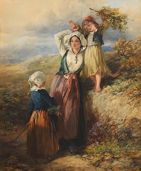 Francis William Topham, Near Brittany (1857) at Morgan O'Driscoll Art Auctions