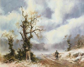 John Trickett, Springer Flushing Pheasant for the Huntsman at Morgan O'Driscoll Art Auctions