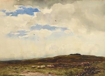 Wycliffe Egginton, Sheep Grazing at Morgan O'Driscoll Art Auctions