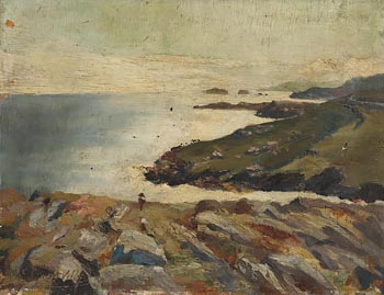 Edith Somerville, View towards the Kedge from Castlehaven at Morgan O'Driscoll Art Auctions