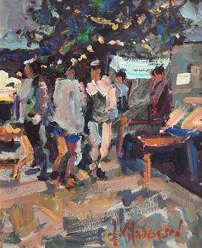 Arthur K. Maderson, The Night Market, Le Vigan at Morgan O'Driscoll Art Auctions