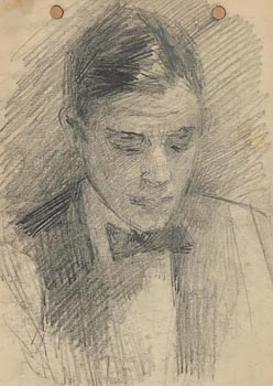 John Butler Yeats, Portrait of Jack B. Yeats at Morgan O'Driscoll Art Auctions