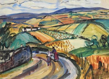 Norah Allison McGuinness, Harvest Time, Wicklow at Morgan O'Driscoll Art Auctions