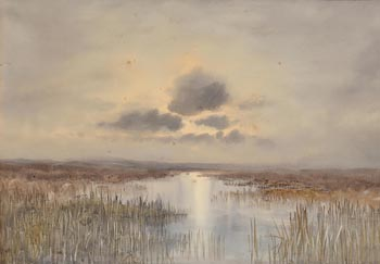 William Percy French, Sunset in Mayo at Morgan O'Driscoll Art Auctions