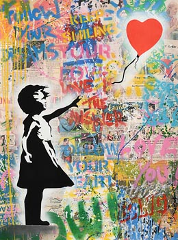 Mr.  Brainwash, Balloon Girl (2020) at Morgan O'Driscoll Art Auctions