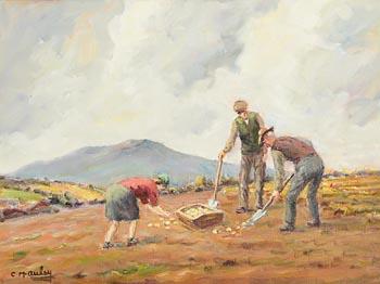 Charles J. McAuley, Potato Gathering at Morgan O'Driscoll Art Auctions