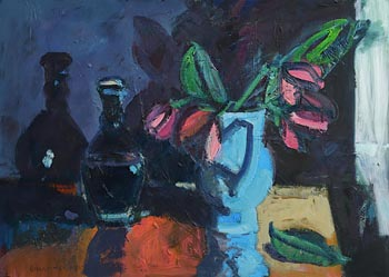 Brian Ballard, Magnolia in Blue at Morgan O'Driscoll Art Auctions