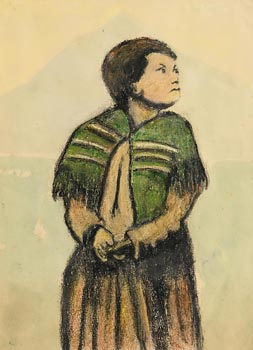 William Conor, Shawlie in the West at Morgan O'Driscoll Art Auctions