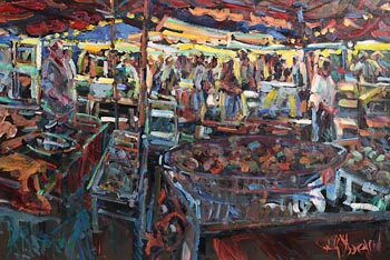 Arthur K. Maderson, Market Day, Le Vigan at Morgan O'Driscoll Art Auctions