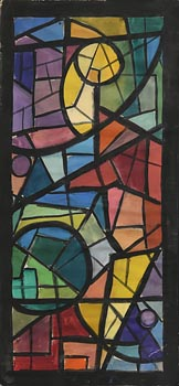Elizabeth Rivers, Study for Stained Glass Window at Morgan O'Driscoll Art Auctions