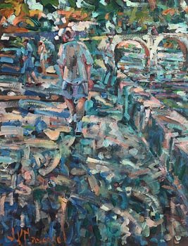 Arthur K. Maderson, Evening, Petanque, Nimes at Morgan O'Driscoll Art Auctions