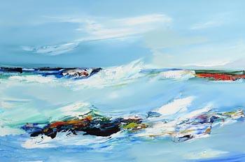 Majella O'Neill Collins, Tidal Surge, Sherkin Island (2020) at Morgan O'Driscoll Art Auctions