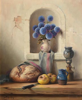 Robert Chailloux, Still Life - Flowers and Fruits at Morgan O'Driscoll Art Auctions