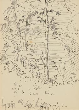 Jack Butler Yeats, Enchanted Forest (1899) at Morgan O'Driscoll Art Auctions