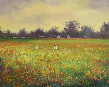 Norman J. McCaig, Poppy Field, Rush, Co. Dublin at Morgan O'Driscoll Art Auctions