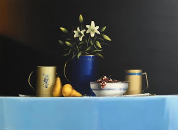 David French, Still Life with Lilies and Pears at Morgan O'Driscoll Art Auctions