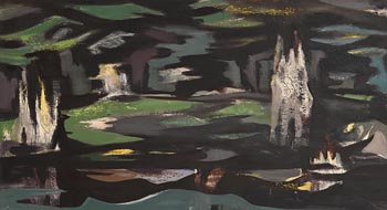 Nevill Johnson, Landscape with Trees (1957) at Morgan O'Driscoll Art Auctions