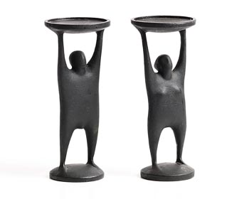 Oisin Kelly, Candle Holders in the Form of a Male and Female at Morgan O'Driscoll Art Auctions